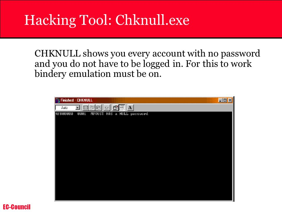 Hacking Tool: Chknull.exe