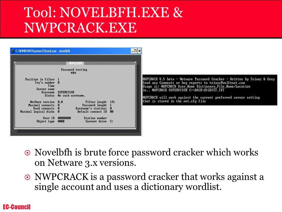Tool: NOVELBFH.EXE & NWPCRACK.EXE