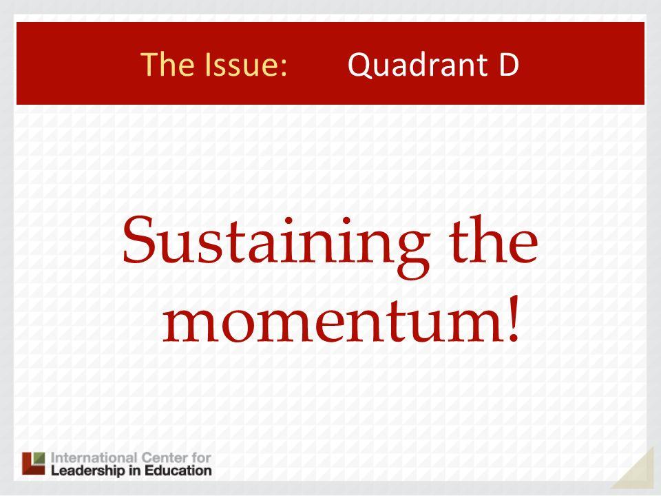 Sustaining the momentum!