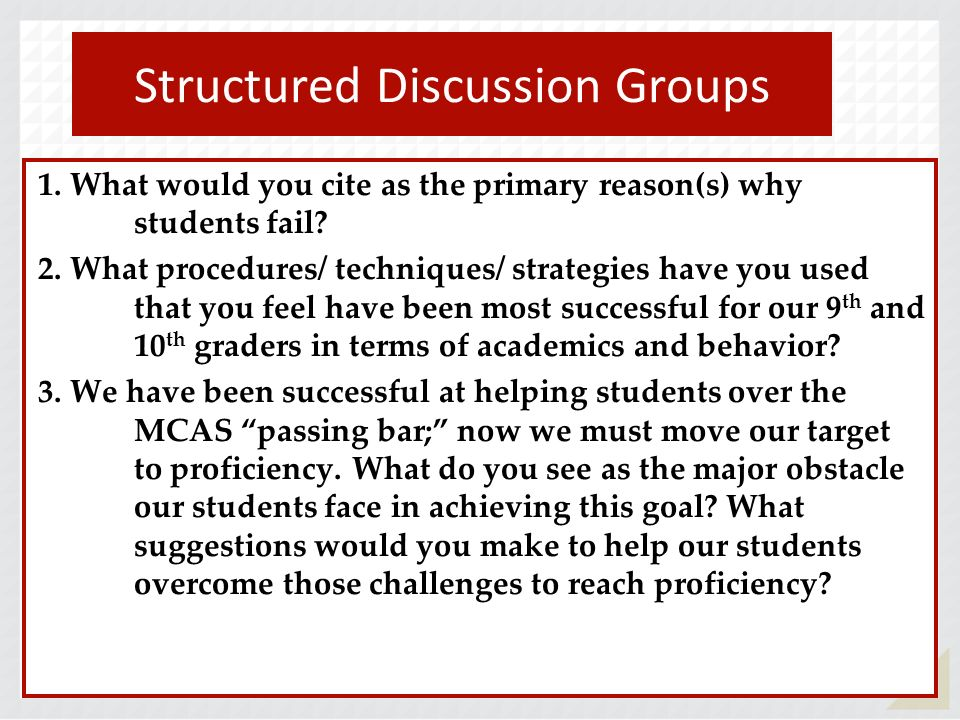 Structured Discussion Groups