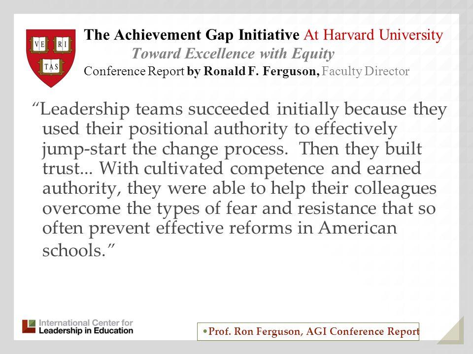 The Achievement Gap Initiative At Harvard University
