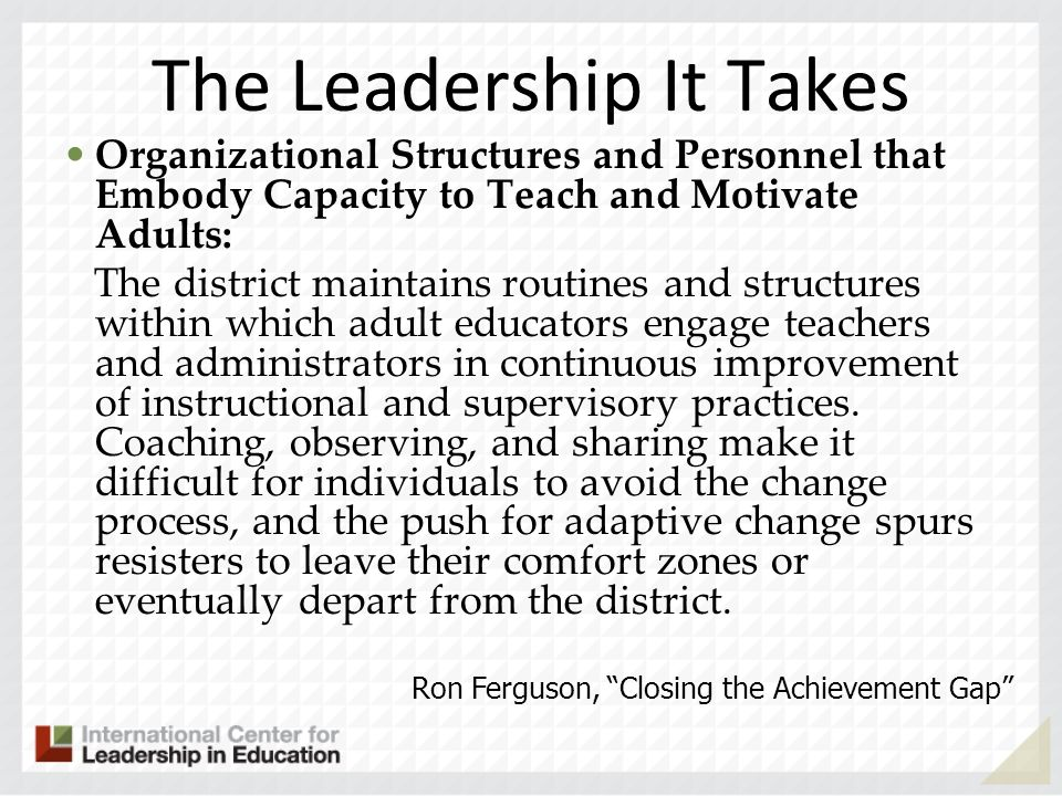 The Leadership It Takes