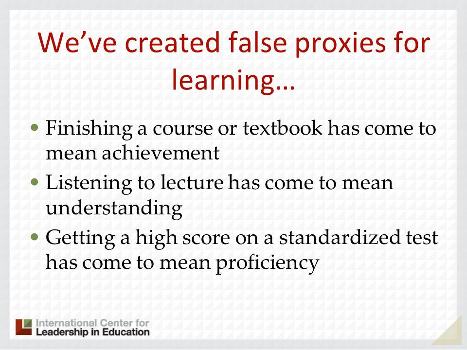 We've created false proxies for learning…