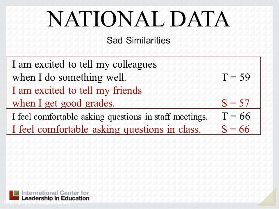 NATIONAL DATA I am excited to tell my colleagues