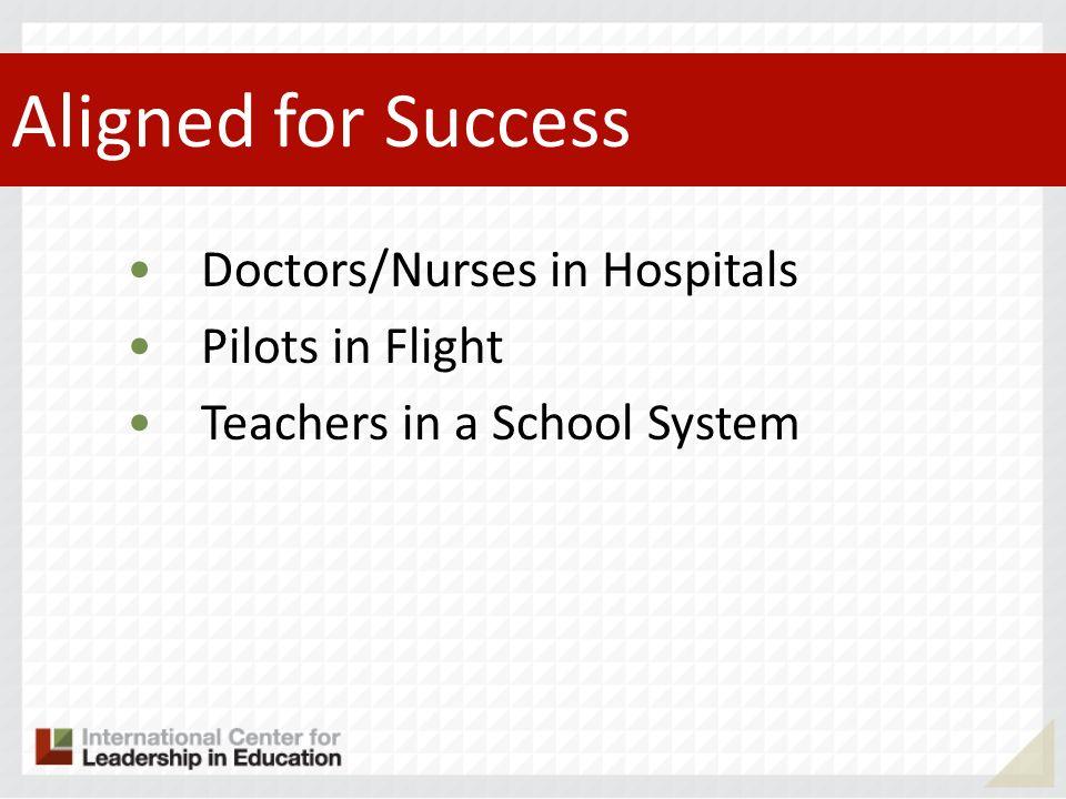 Aligned for Success Doctors/Nurses in Hospitals Pilots in Flight