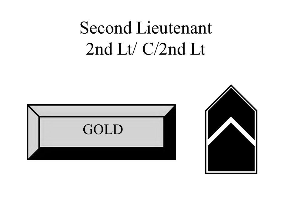 Second Lieutenant 2nd Lt/ C/2nd Lt