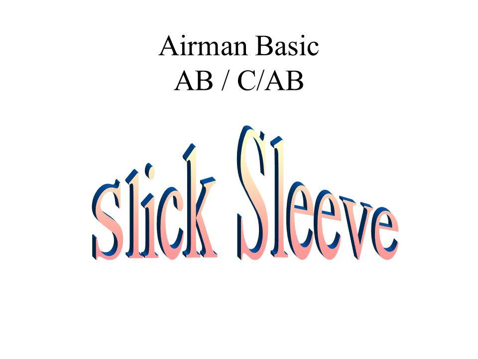 Airman Basic AB / C/AB Slick Sleeve