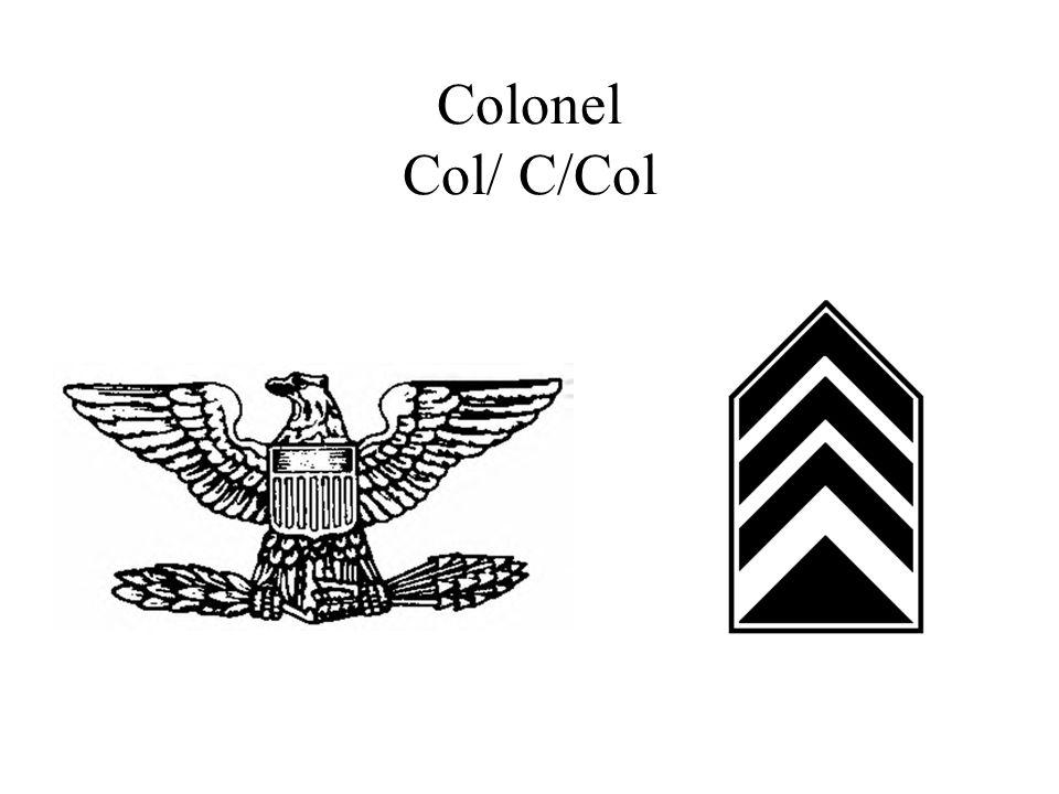 Colonel Col/ C/Col