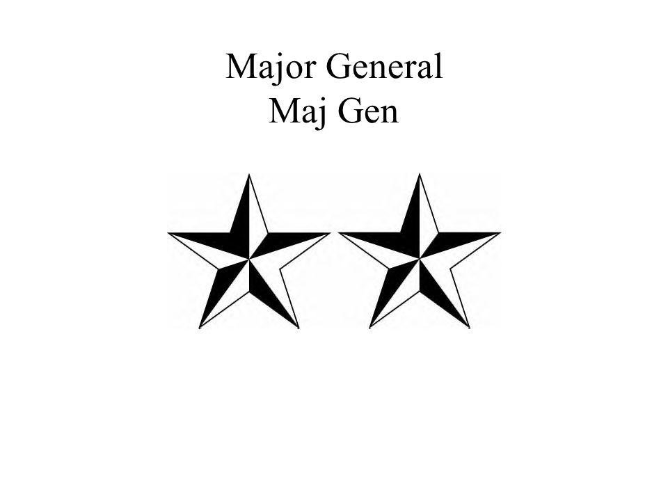 Major General Maj Gen