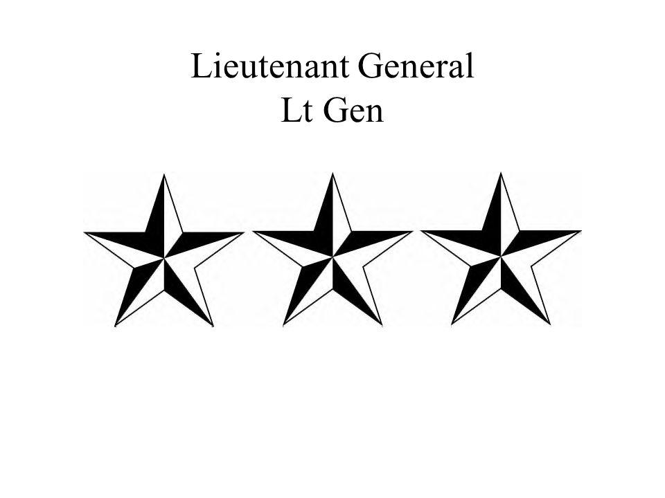 Lieutenant General Lt Gen