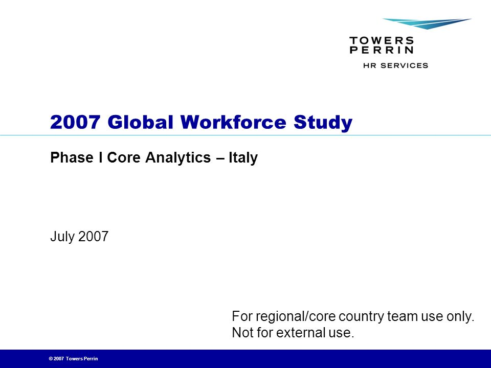 2007 Global Workforce Study