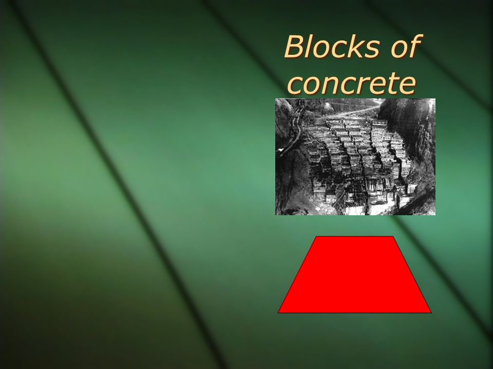 Blocks of concrete