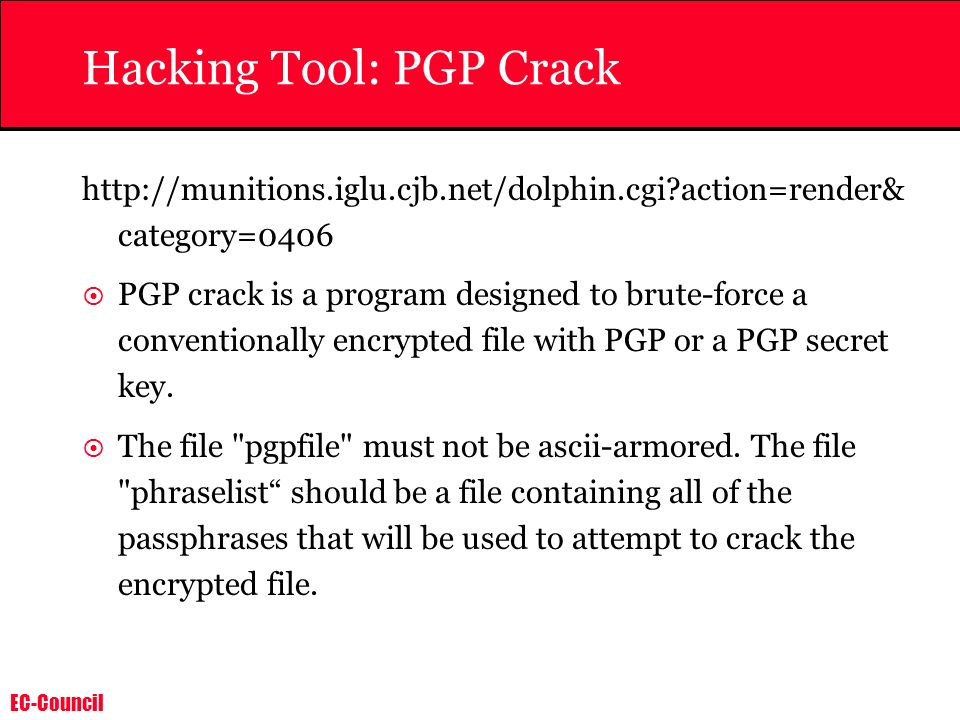 Hacking Tool: PGP Crack