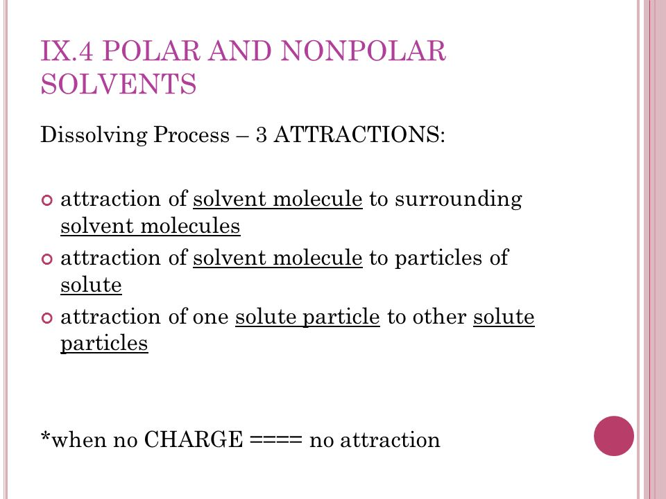 how to tell if a solute is polar or nonpolar