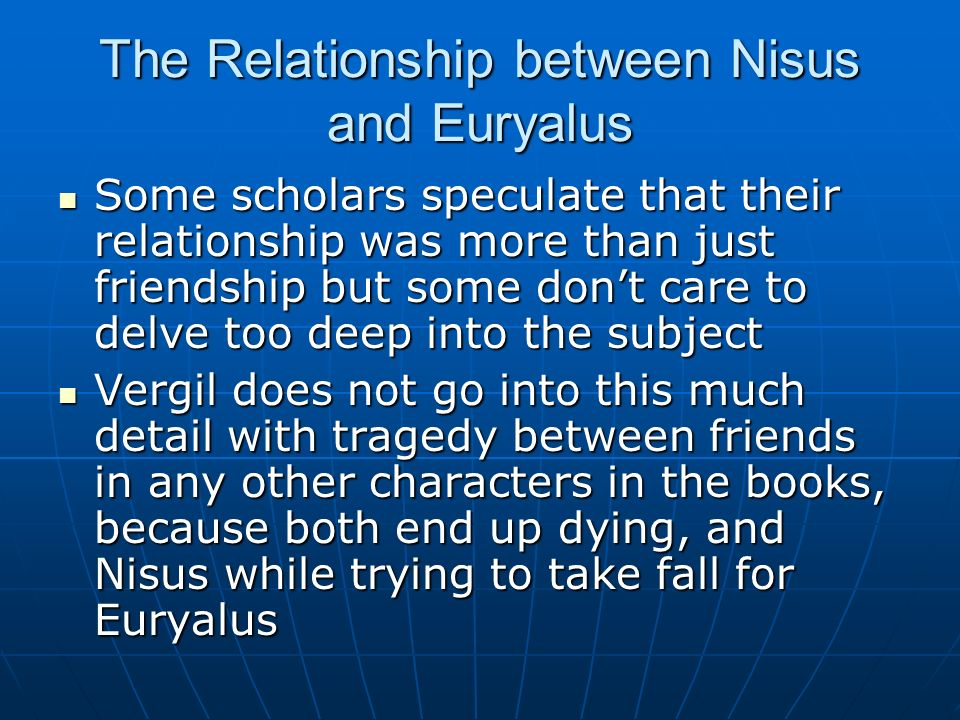 The Relationship between Nisus and Euryalus