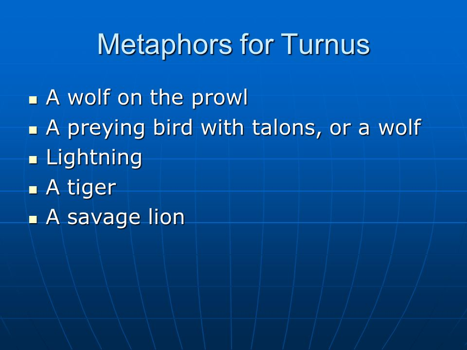 Metaphors for Turnus A wolf on the prowl
