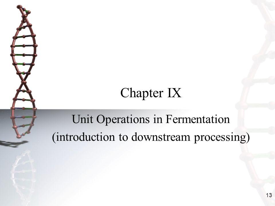 Chapter IX Unit Operations in Fermentation