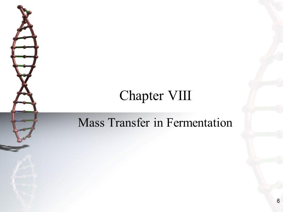 Mass Transfer in Fermentation