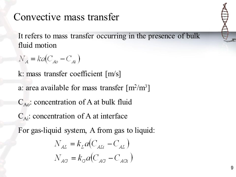 Convective mass transfer