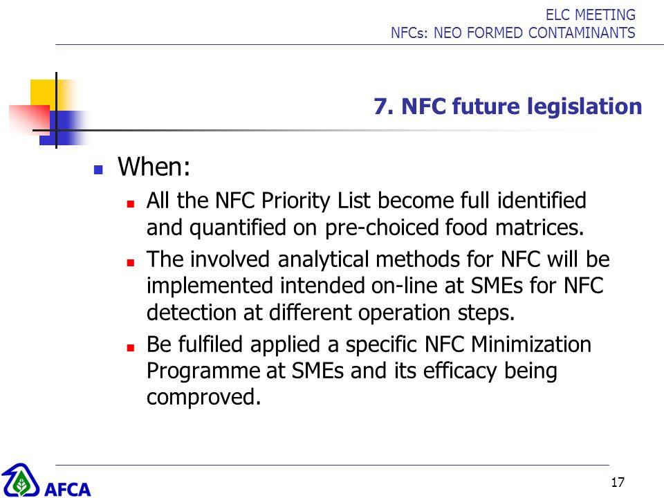 7. NFC future legislation