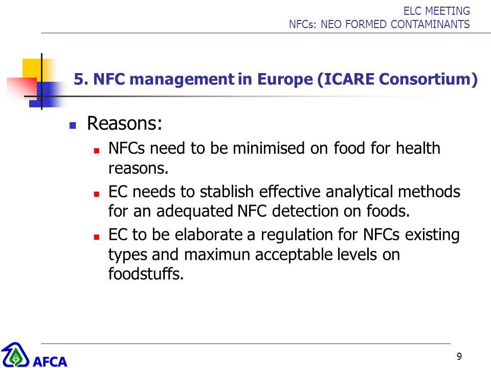 5. NFC management in Europe (ICARE Consortium)