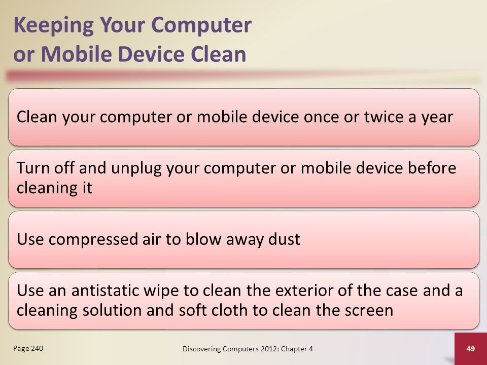 Keeping Your Computer or Mobile Device Clean
