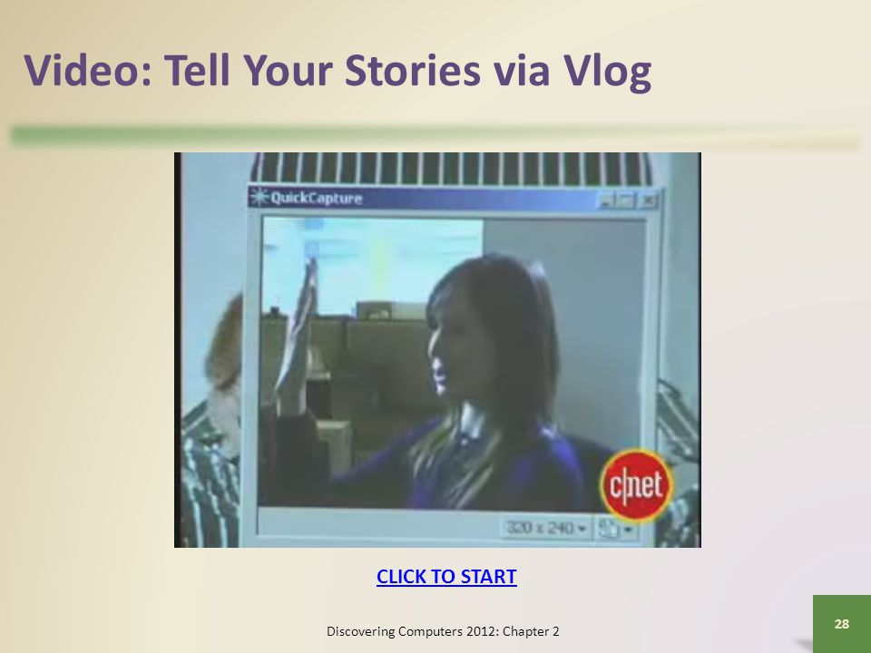 Video: Tell Your Stories via Vlog