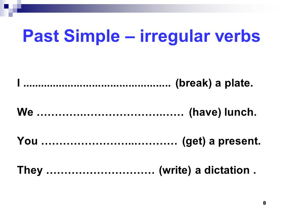 Past Simple – irregular verbs
