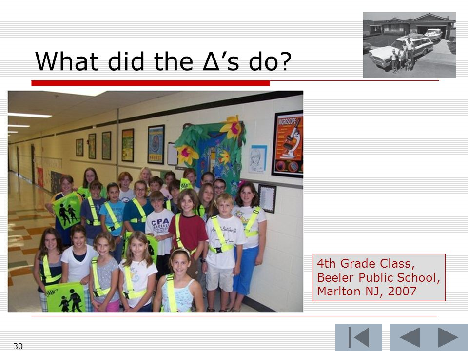 What did the Δ's do 4th Grade Class, Beeler Public School,