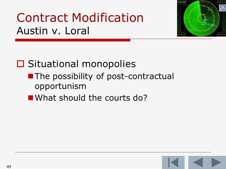 Contract Modification Austin v. Loral