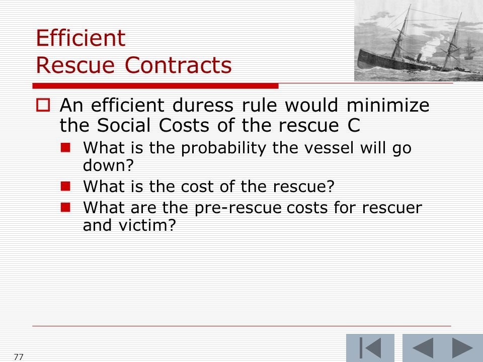 Efficient Rescue Contracts