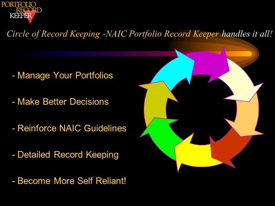 Circle of Record Keeping -NAIC Portfolio Record Keeper handles it all!