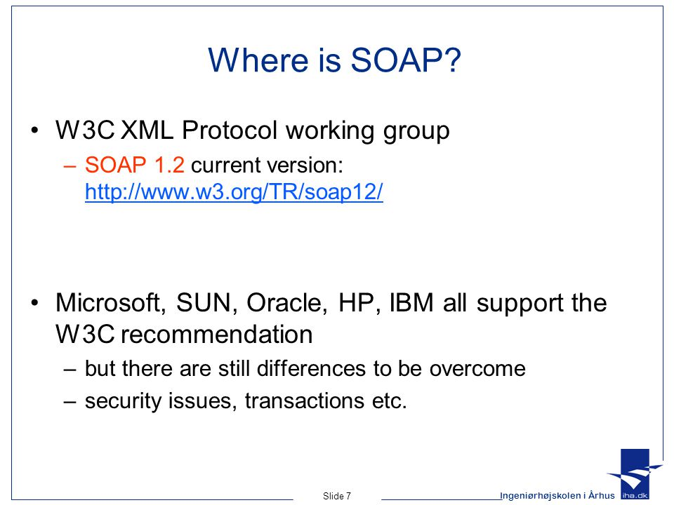 Where is SOAP W3C XML Protocol working group