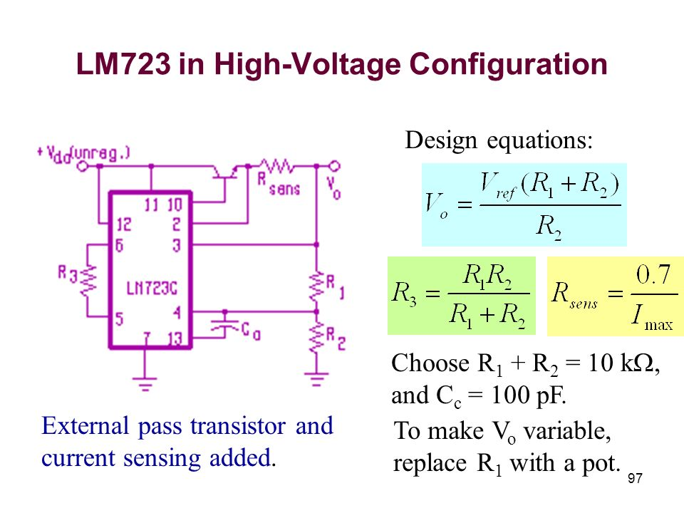 LM723 in High-Voltage Configuration