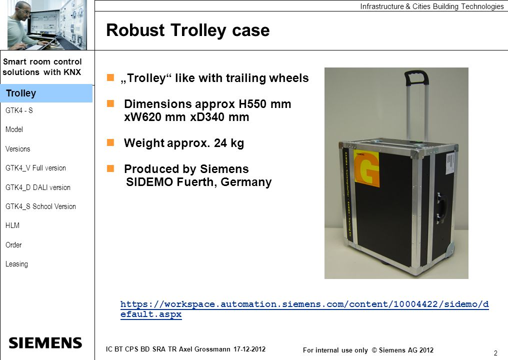 "Robust Trolley case ""Trolley like with trailing wheels"