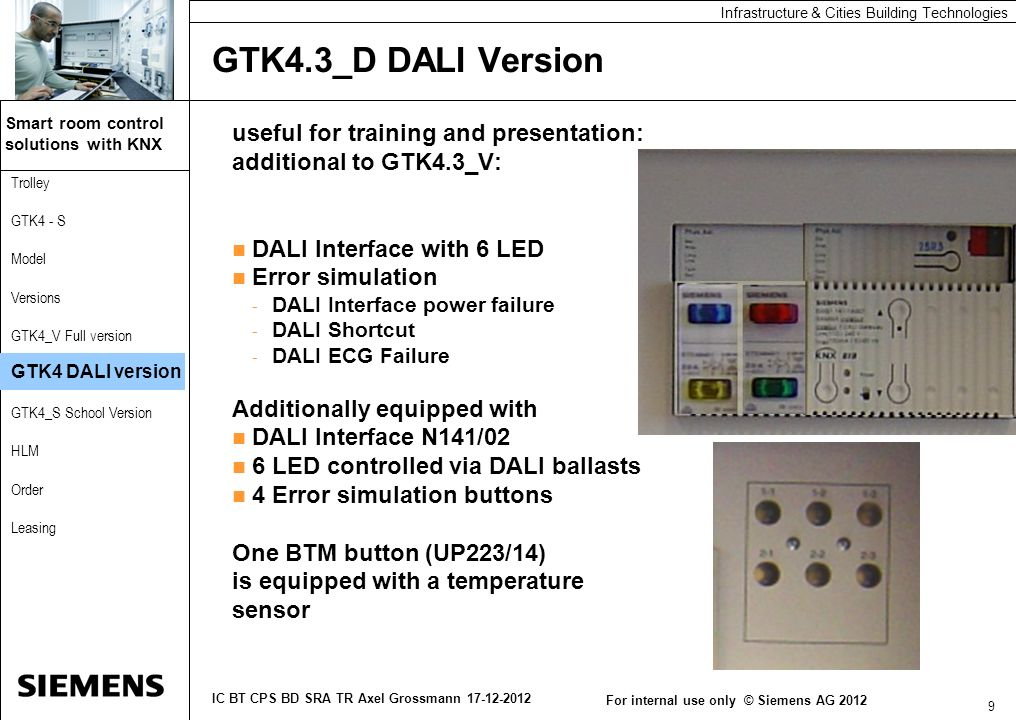 GTK4.3_D DALI Version useful for training and presentation: