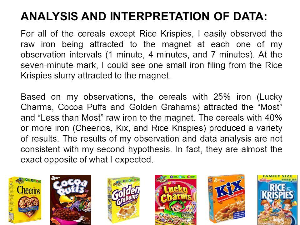 ANALYSIS AND INTERPRETATION OF DATA: