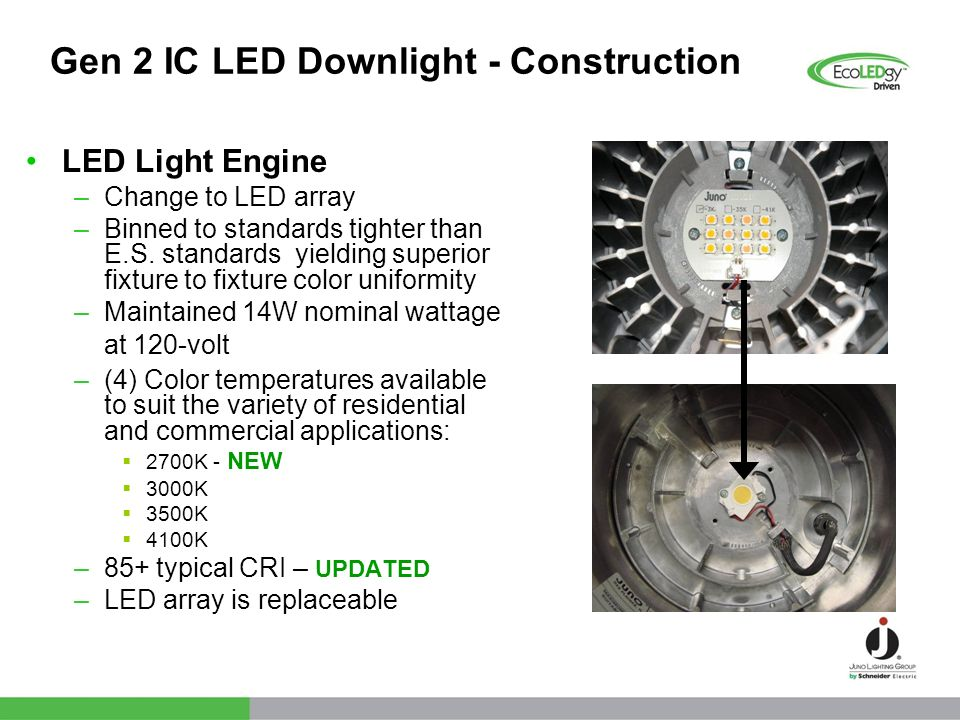 Gen 2 IC LED Downlight - Construction