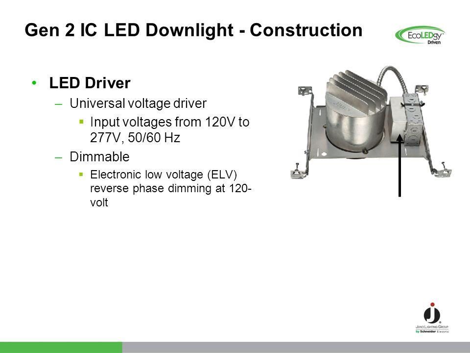 Gen 2 IC LED Downlight - Construction