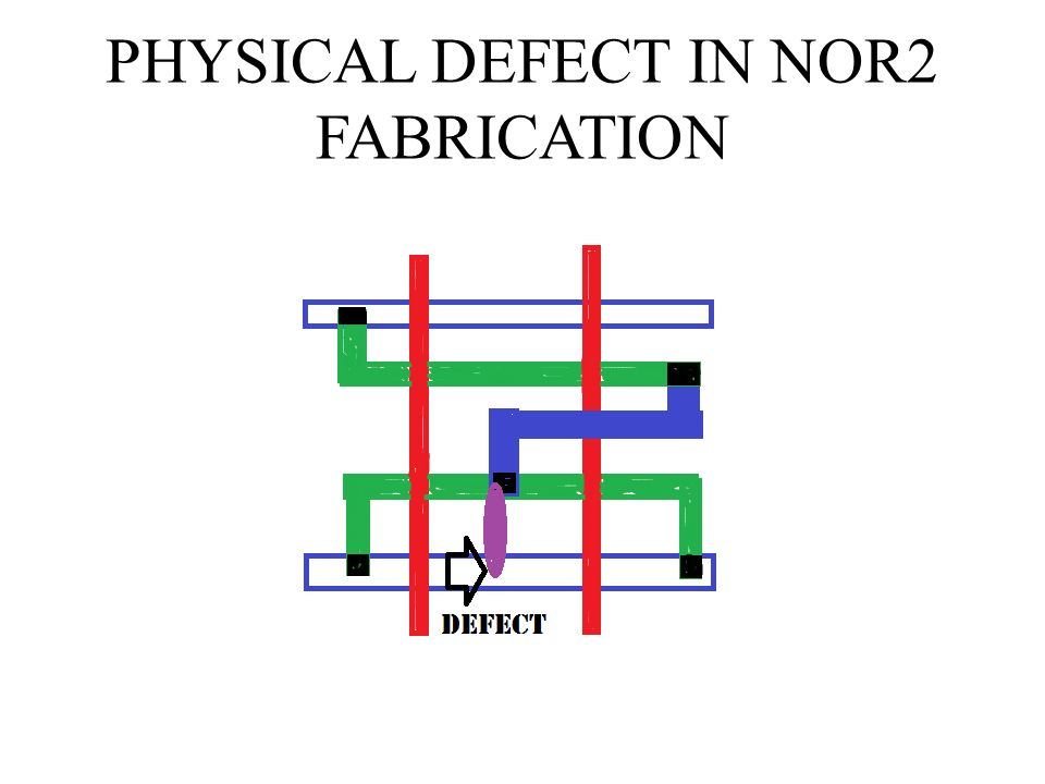 PHYSICAL DEFECT IN NOR2 FABRICATION