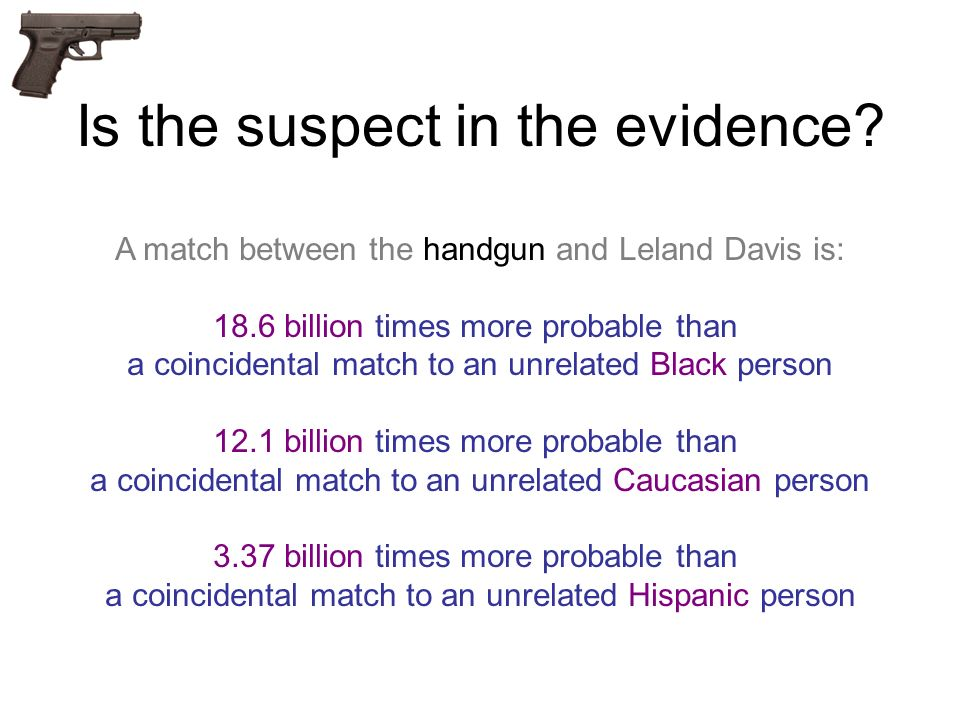 Is the suspect in the evidence
