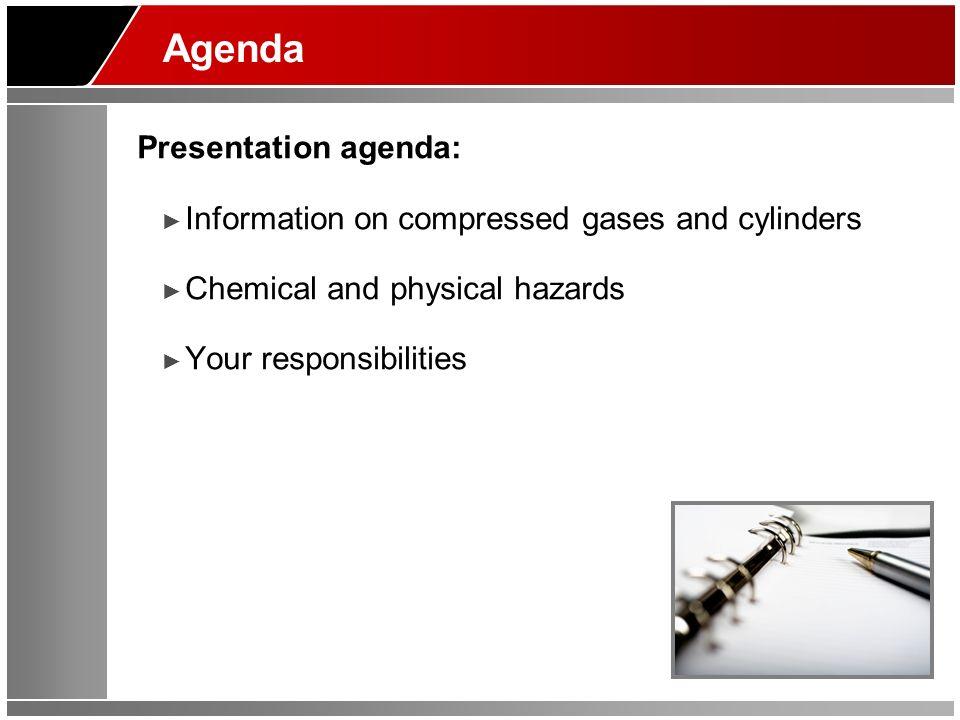 Agenda Presentation agenda: