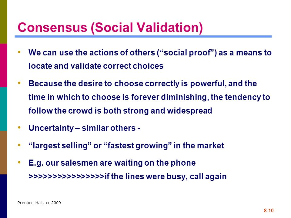 Consensus (Social Validation)