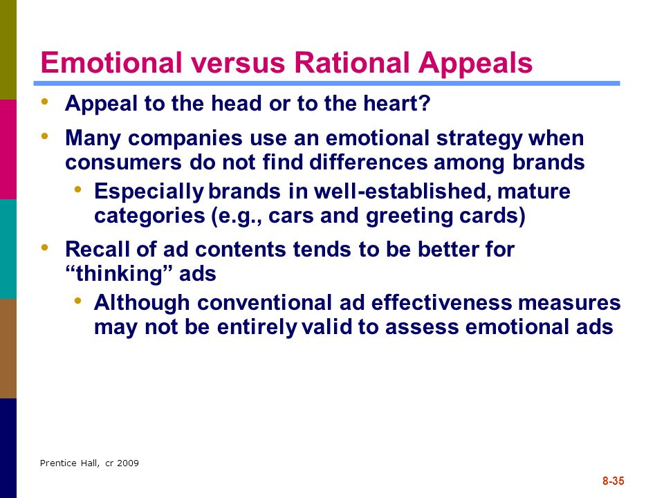 Emotional versus Rational Appeals