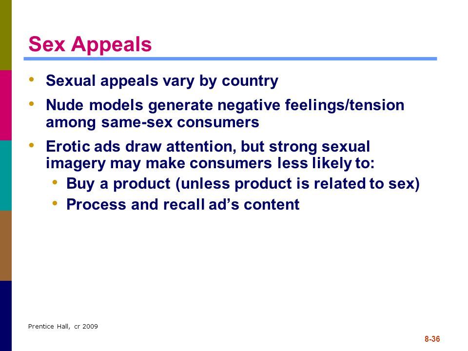 Sex Appeals Sexual appeals vary by country