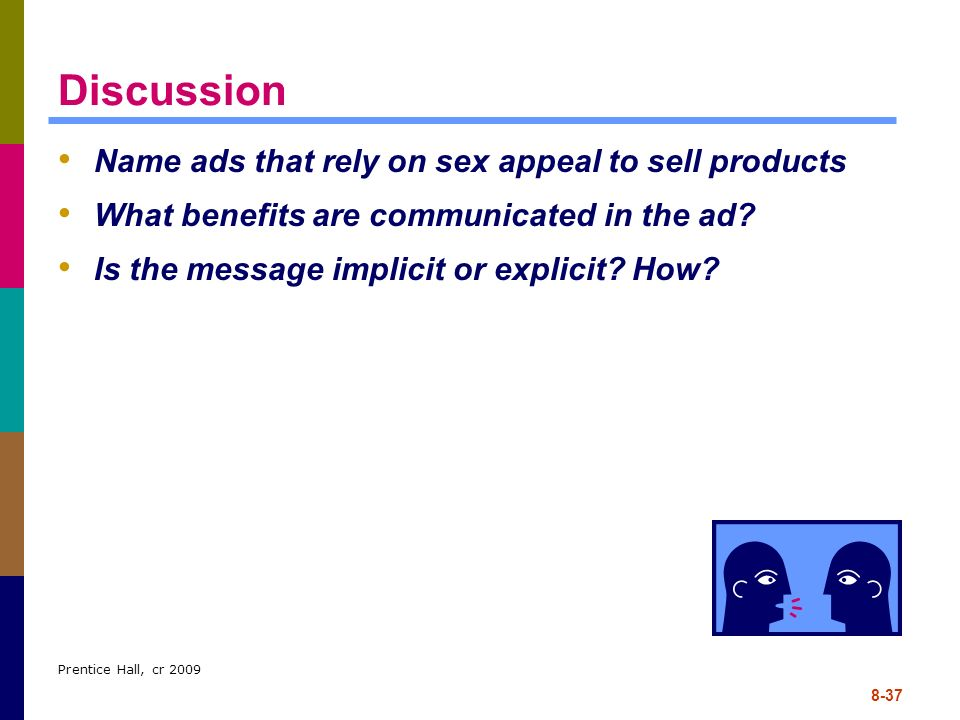 Discussion Name ads that rely on sex appeal to sell products