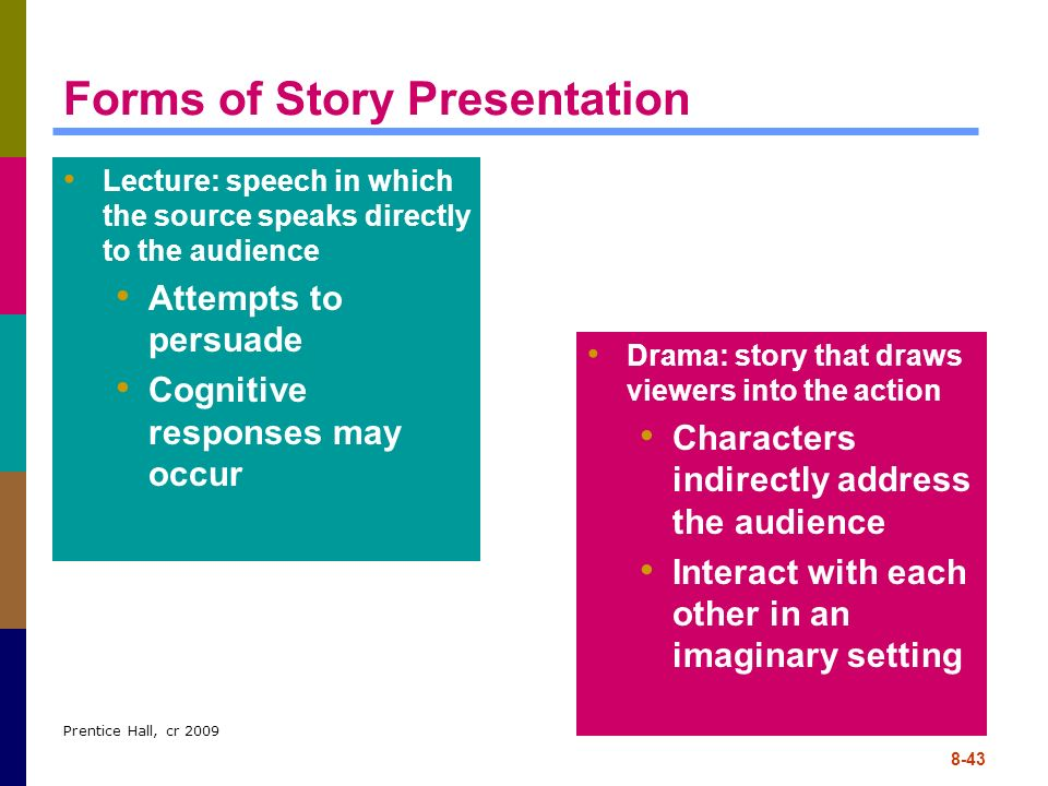 Forms of Story Presentation