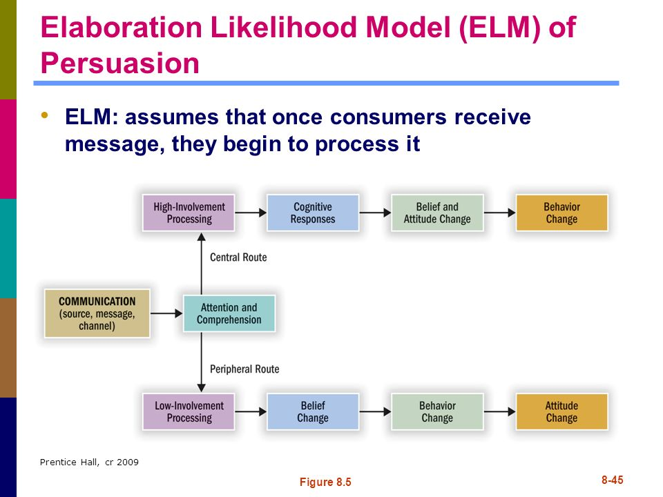 Elaboration Likelihood Model (ELM) of Persuasion