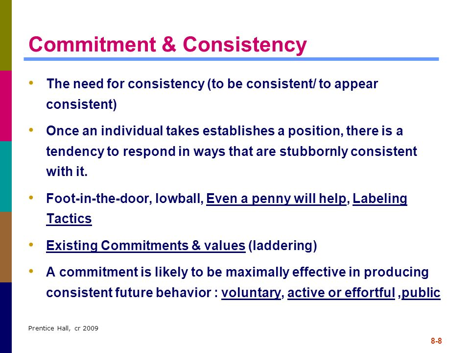 Commitment & Consistency
