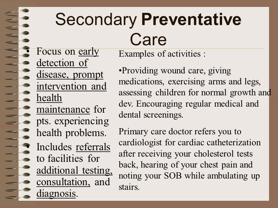 Secondary Preventative Care